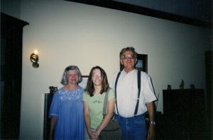 With Kay and John Egan, circa 2000