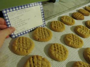My fabulous peanut butter cookies