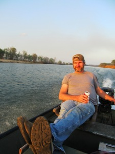 My husband, fishing on the White River