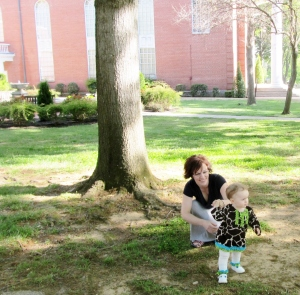 Introducing Maggie to my alma mater, May 2014