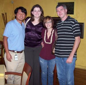 One of the first pictures I have with my husband, just a few weeks after we met. We're pictured with the couple who introduced us, Tony & Sarah Wang. August 2010