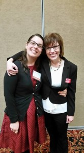 At the AACE Conference in June 2015 with my friend and former student, Kelsey Lavigne